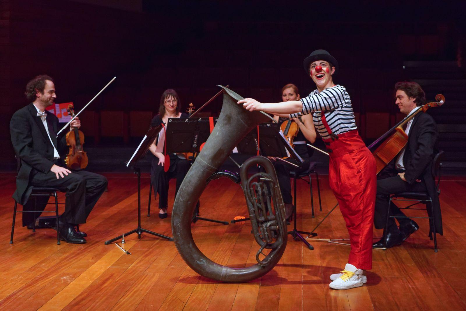 Concert : un clown au pays de la musique classique